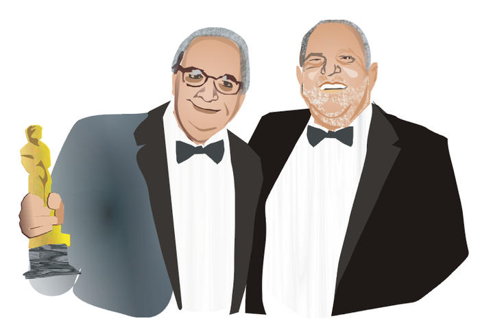 The Weinstein Brothers. Hollywood superduo. From the borough.