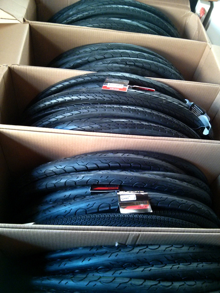 "Lots and lots of tires. (26"" & 28"" have slightly different tread patterns)"