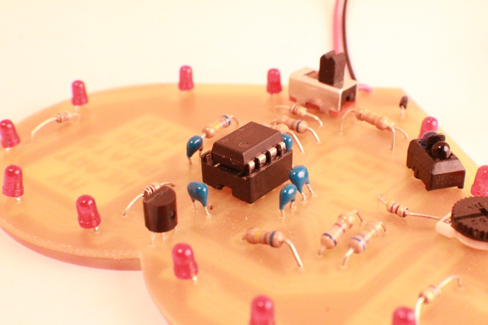 Students will solder each component in place