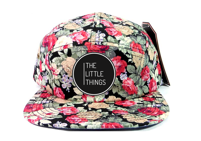 The Little Things Movie 5 Panel Snapback hat in Floral Pattern