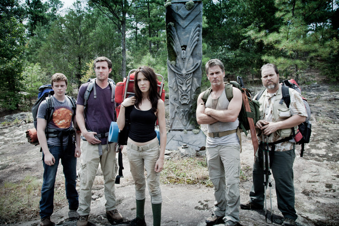 The cast of Beacon Point (from left to right) RJ Shearer, Jason Burkey, Rachel Marie Lewis, Jon Briddell and Eric Goins