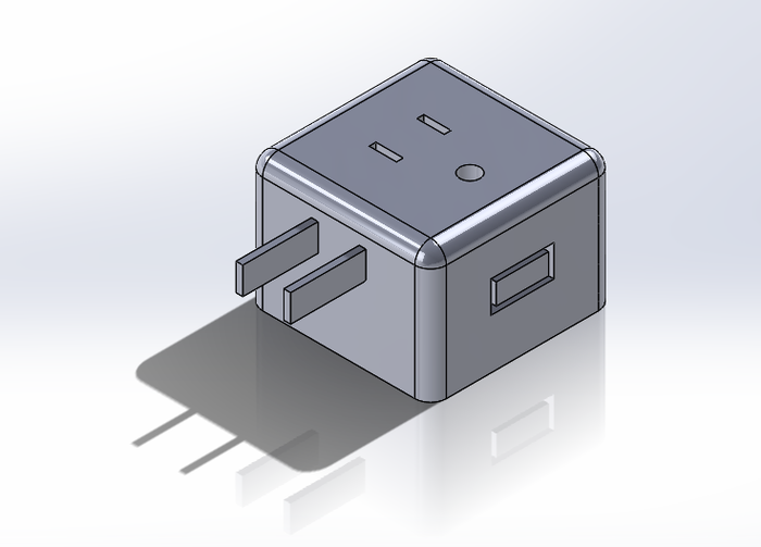 A SolidWorks Model of our version 2 prototype