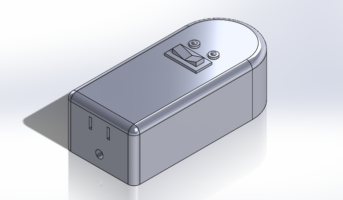A SolidWorks Model of our version 2 Command Block prototype