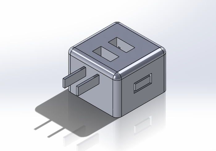 A SolidWorks Model of our version 2 USB prototype