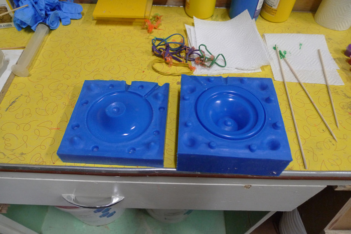 Clean and ready,  the Muddle Buddy prototype V2 mold.