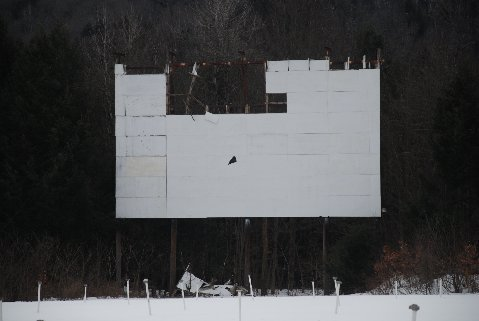Drive-In Screen April 2013 after winter storms