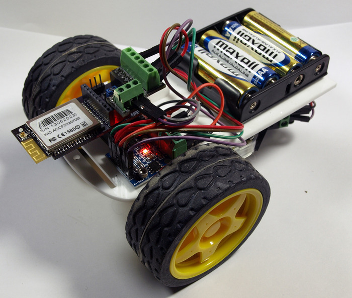 Wi-Fi, Bluetooth, or BLE controlled Robot - via App or Web