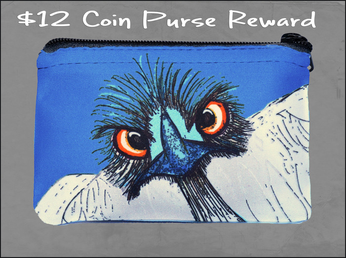 $12 Neoprene Coin Purse Reward