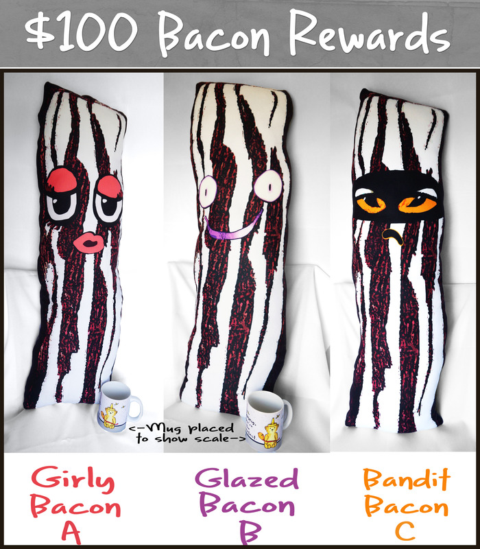 Bacon Body Pillow Reward Choices