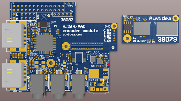2nd generation HDMI in module with onboard audio/video encoder