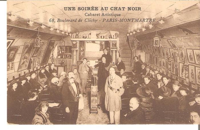 Inside the ancient Le Chat Noir
