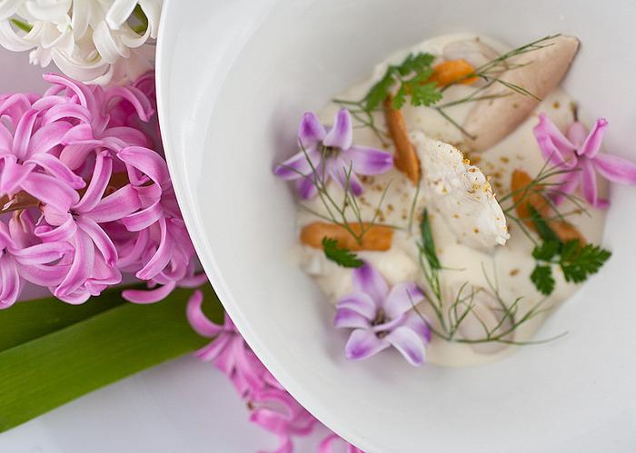 Wild Turbot, Shellfish, Water Chestnuts, Hyacinth Vapor (2013)