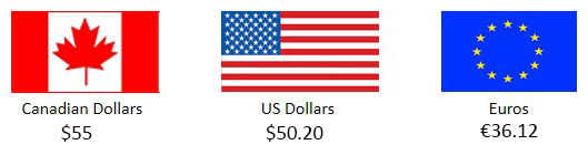 Remember, you pay the pledge amount that's been converted into YOUR currency.