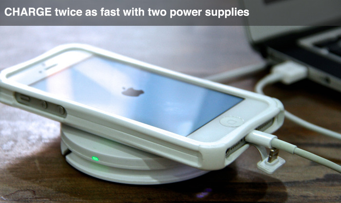 DUAL POWER BOOST- Charge from Power Pad and from phone charging cable simultaneously to reduce combined charge time from 6hrs to 3hrs.