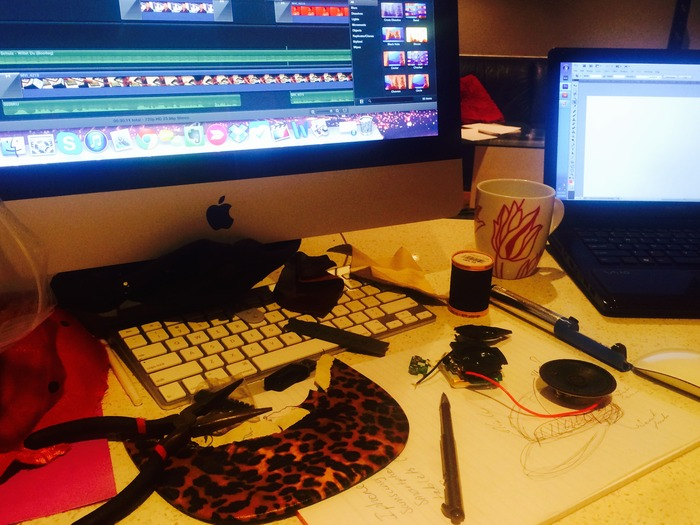 The late night work bench, coffee is always required
