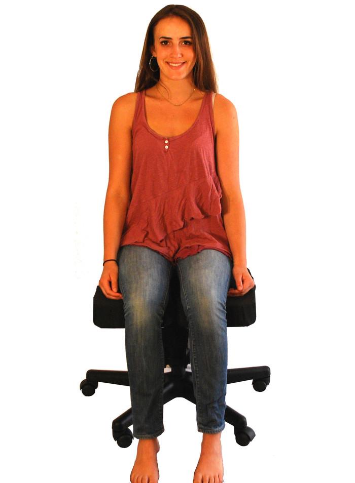 CrossChair -standard sitting position