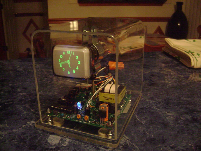 The basic clock built using a 6LO1i crt (Soviet) - $285 or more pledge.