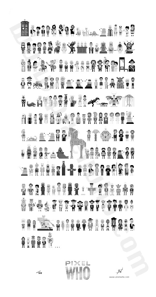$30 Donation - 1st Doctor Poster (15 x 28 inches, 212 characters)