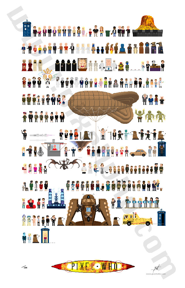 $35 Donation - 9th Doctor Poster (18 x 28 inches, 240 characters)