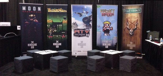 Bam! Booth is set up and almost ready for go time!