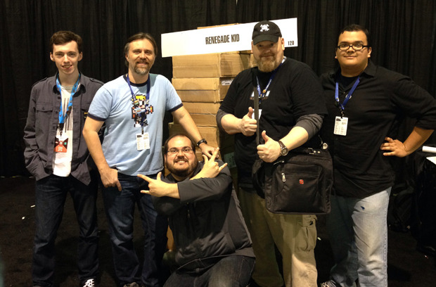The PAX East crew! Andrew, Jools, Roberto, Gregg, and Mark.