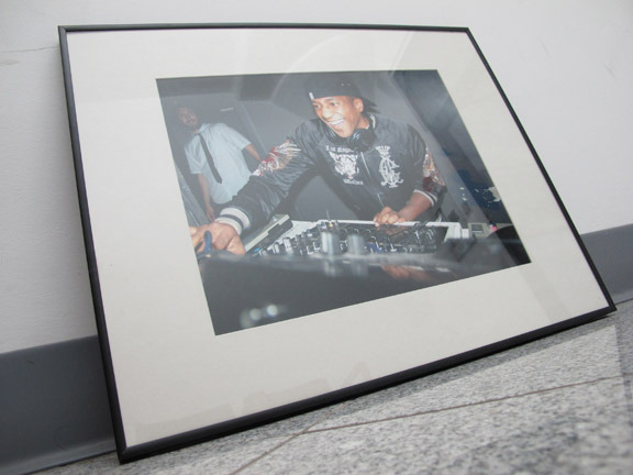 """Framed 11""""x14"""" photographic print of Q-Tip (A Tribe Called Quest) by HUMAN Photography we are offering to our backers"""
