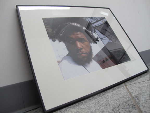 """Framed 11""""x14"""" photographic print of Questlove (The Roots) by HUMAN Photography we are offering to our backers"""