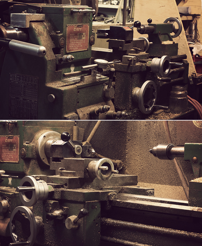 Every part manually machined on grandpa's old lathe
