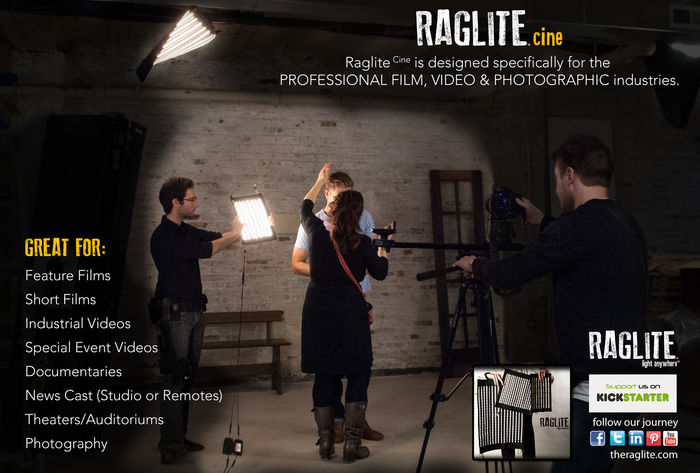 For film, video and photography applications.