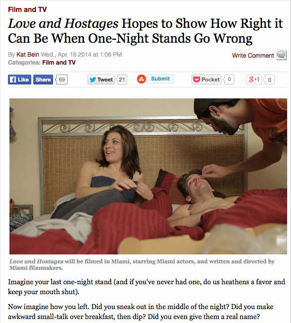 """Miami New Times """"Love and Hostages"""" headline"""