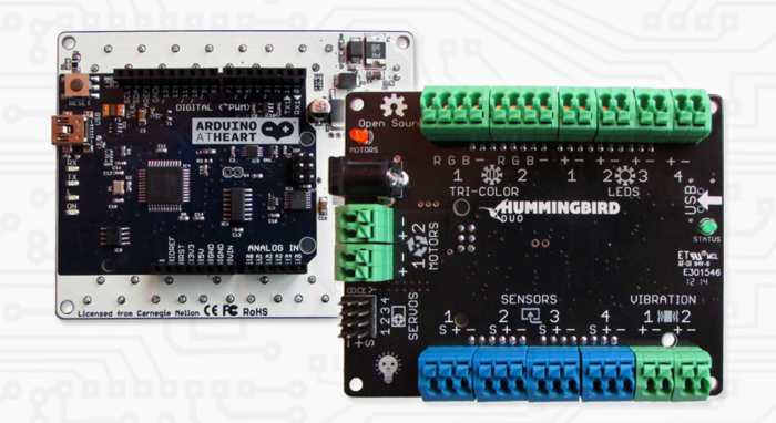Duo's two sides, Arduino and Hummingbird