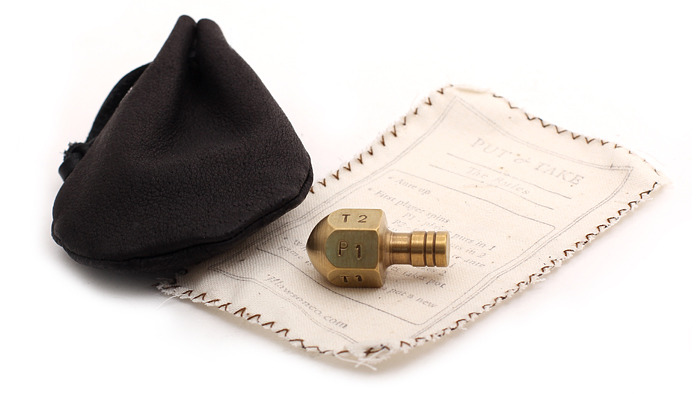 Every Teetotum comes with the muslin rules list and our leather pouch