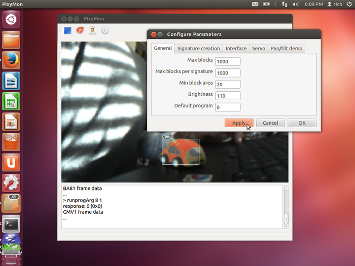 El Linux con Pixy