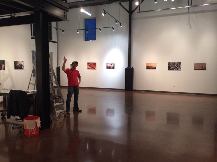 Cayce from Helikon hanging the show