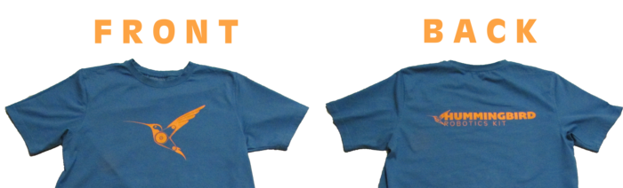 Prototype shirt, front and back.