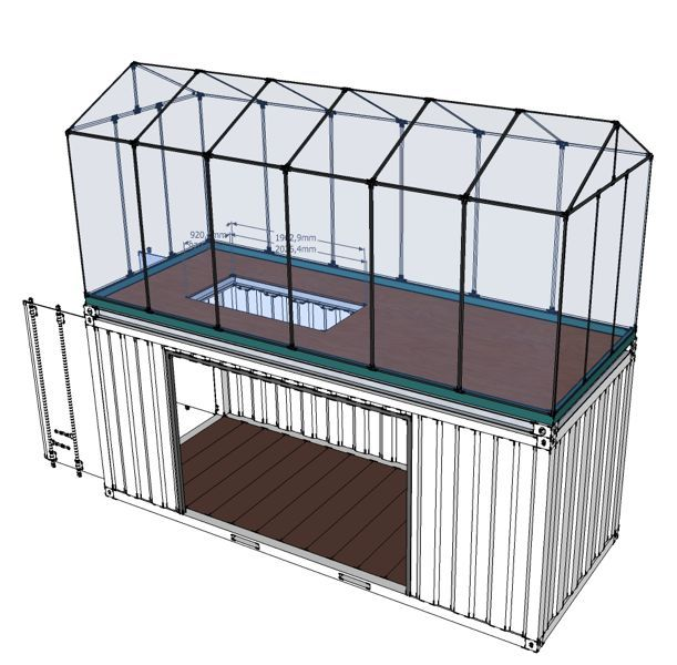portable aquaponic greenhouse by robert stanley kickstarter. Black Bedroom Furniture Sets. Home Design Ideas