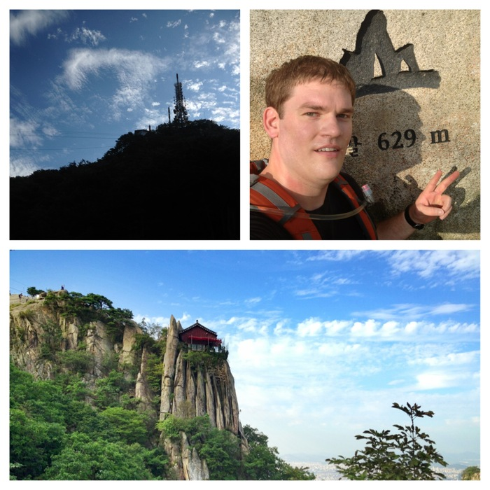 Author Tim Moon hiking Gwanaksan, a mountain Ben & Ty would have hiked.