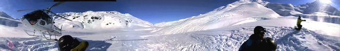 ... heli-skiing in Alaska. (click to see the video)