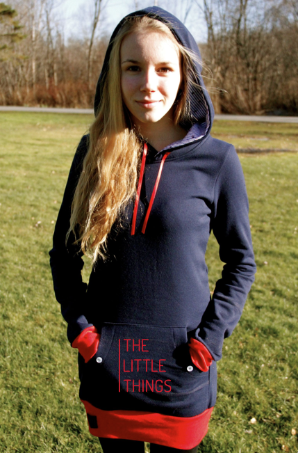The Little Things Movie LouveDesign Hoodie. Handmade in Canada from recycled fabrics.
