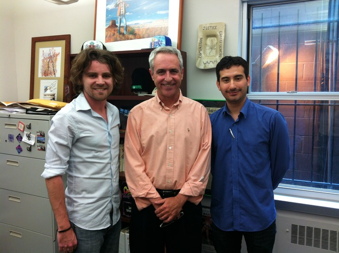 Producers Jason Spencer and Tim Delmastro with Allen St. Pierre of NORML