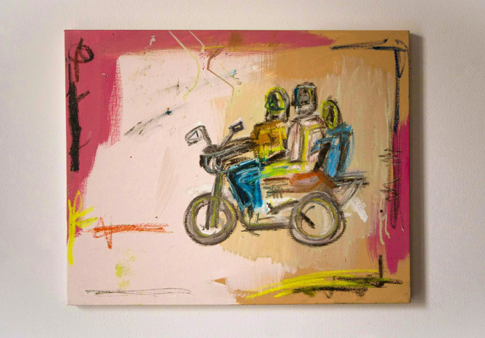 """Painting by Steven Cogle """"Untitled"""" #2 **SOLD**"""