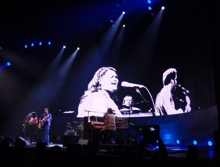 Performing with Jack Johnson at the Madison Square Garden in NYC, 2010