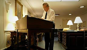 Name this desk- Even though I am calling it the Frey Desk, I still feel like this is a place holder.  A wise friend pointed out that every standing desk should be called the Rumsfeld.  Maybe he is right.  Please advise.