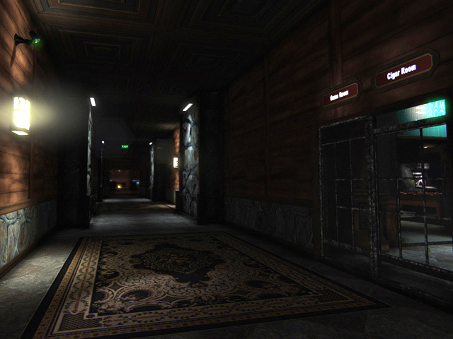 Connecting hallway in Lakehouse (UDK)