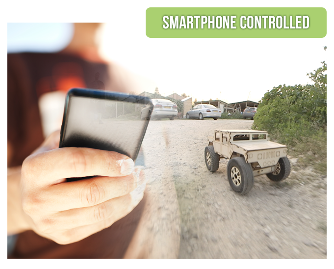 Smartphone-controlled Custom Wooden Vehicle Project