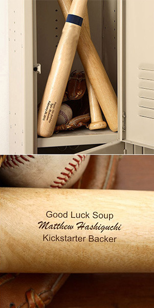 Personalized Good Luck Soup 28in baseball bat