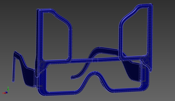 Invisivision Eyewear CAD Illustration (View B)