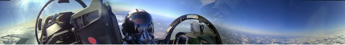 ... in a fighter plane. (click to see the video)