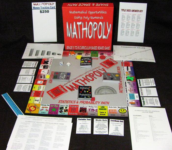 Mathopoly Board Game