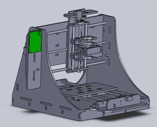 CAD Model for our CNC Router
